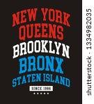 new york city usa typography...   Shutterstock .eps vector #1334982035