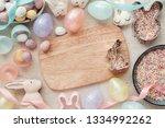 easter egg and bunny for kids...   Shutterstock . vector #1334992262