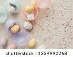 easter speckled eggs for kids...   Shutterstock . vector #1334992268