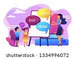 tiny people  teacher and kids... | Shutterstock .eps vector #1334996072