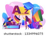 students practicing dynamic... | Shutterstock .eps vector #1334996075