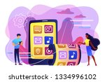 tiny business people using... | Shutterstock .eps vector #1334996102
