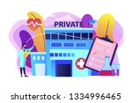 doctor pointing at private... | Shutterstock .eps vector #1334996465