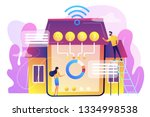 tiny business people at... | Shutterstock .eps vector #1334998538