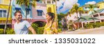 summer florida vacation couple... | Shutterstock . vector #1335031022