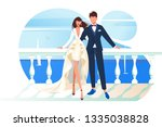 flat bridal frame with woman... | Shutterstock .eps vector #1335038828