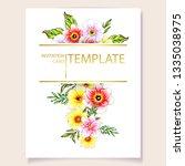 romantic wedding invitation... | Shutterstock .eps vector #1335038975