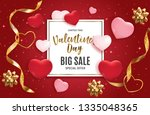 valentine's day love and... | Shutterstock . vector #1335048365