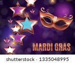 mardi gras party mask holiday... | Shutterstock . vector #1335048995