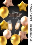 color glossy happy birthday... | Shutterstock . vector #1335049022