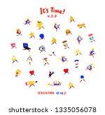 fun friendly characters. vector.... | Shutterstock .eps vector #1335056078