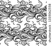 black and white wave seamless... | Shutterstock . vector #1335062558