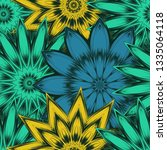seamless floral background.... | Shutterstock .eps vector #1335064118