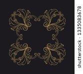 gold rococo ornament. retro... | Shutterstock .eps vector #1335083678