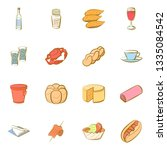 food images. background for... | Shutterstock .eps vector #1335084542