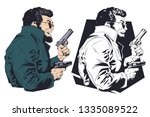 stock illustration. criminal... | Shutterstock .eps vector #1335089522