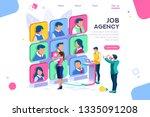client employee job agency... | Shutterstock .eps vector #1335091208