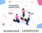 Stock vector cloud header search idea advancement man cutout flat color icons creative illustrations 1335091235