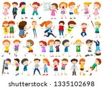 set of children character... | Shutterstock .eps vector #1335102698