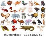 set of animal character...   Shutterstock .eps vector #1335102752