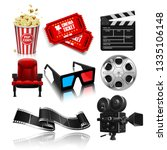 popcorn  tickets  theater chair ... | Shutterstock .eps vector #1335106148