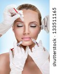 injections of botox   woman... | Shutterstock . vector #133511165