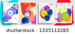 modern abstract covers set.... | Shutterstock .eps vector #1335113285