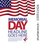 memorial day flag design. jpg | Shutterstock . vector #133511426