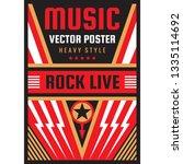 music concert rock festival... | Shutterstock .eps vector #1335114692