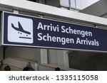schengen arrivals board ... | Shutterstock . vector #1335115058