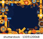 abstract industrial... | Shutterstock .eps vector #1335120068