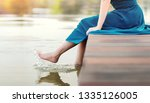 unplugged life or human living... | Shutterstock . vector #1335126005