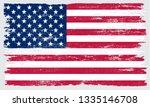 grunge american flag | Shutterstock .eps vector #1335146708