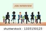 candidate shadow in queue wait... | Shutterstock .eps vector #1335150125