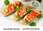 tomato and cheese fresh made... | Shutterstock . vector #1335152465