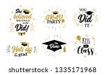 congrats graduates  class of...   Shutterstock . vector #1335171968