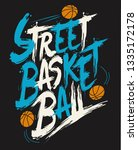cool street basketball... | Shutterstock .eps vector #1335172178