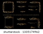 vector design golden ornament... | Shutterstock .eps vector #1335174962