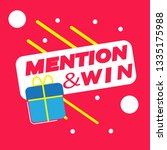 mention and win vector  ... | Shutterstock .eps vector #1335175988