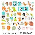 big vector set of animals.  | Shutterstock .eps vector #1335182465