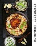 delicious kingfish biryani top... | Shutterstock . vector #1335183635