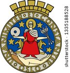 coat of arms of oslo is the... | Shutterstock .eps vector #1335188528