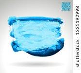 blue brush stroke and texture.... | Shutterstock .eps vector #1335192998