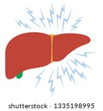 problem with liver vector... | Shutterstock .eps vector #1335198995