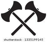crossed medieval double edged... | Shutterstock .eps vector #1335199145