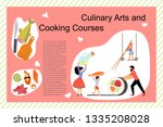 culinary art and cooking... | Shutterstock .eps vector #1335208028