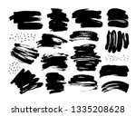 black dry brushstrokes hand...   Shutterstock .eps vector #1335208628