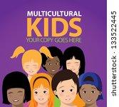 multicultural kids. eps 8...   Shutterstock .eps vector #133522445