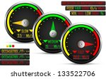 internet speed test meter  with ... | Shutterstock .eps vector #133522706