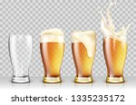 set of various full and empty... | Shutterstock .eps vector #1335235172